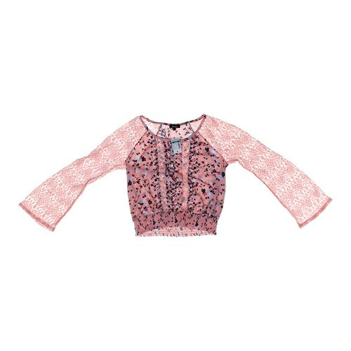 Deb Floral Lace Accented Shirt in size JR 11 at up to 95% Off - Swap.com