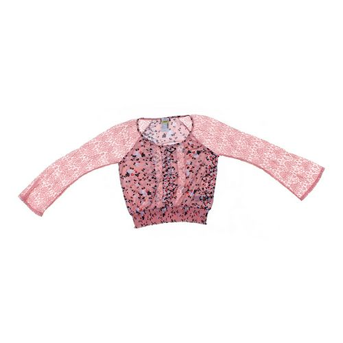 Deb Floral Lace Accented Shirt in size JR 7 at up to 95% Off - Swap.com