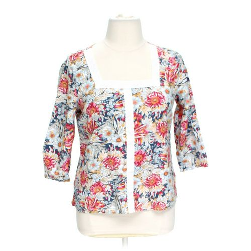 Basic Editions Floral Shirt in size L at up to 95% Off - Swap.com