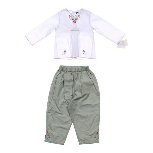 Petit Ami Floral Shirt & Pants Set in size 2/2T at up to 95% Off - Swap.com
