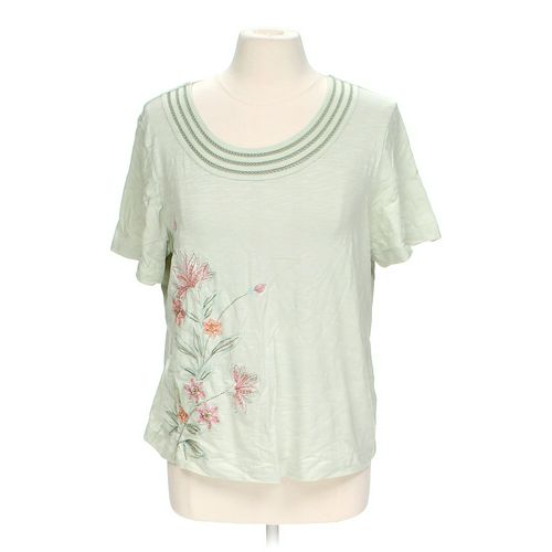 Alfred Dunner Floral T-shirt in size L at up to 95% Off - Swap.com