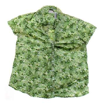 Flower Patterned Maternity Button-up Shirt for Sale on Swap.com