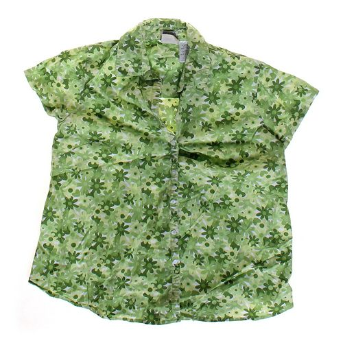 Announcements Maternity Flower Patterned Maternity Button-up Shirt in size M (8-10) at up to 95% Off - Swap.com