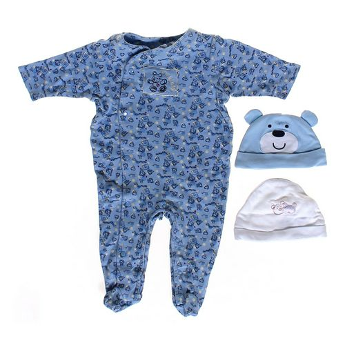 Baby Essentials Footed Pajamas & Fun Hat Set in size 3 mo at up to 95% Off - Swap.com