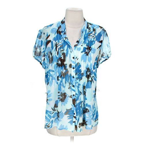 Croft & Barrow Fun Button-Up Blouse in size M at up to 95% Off - Swap.com