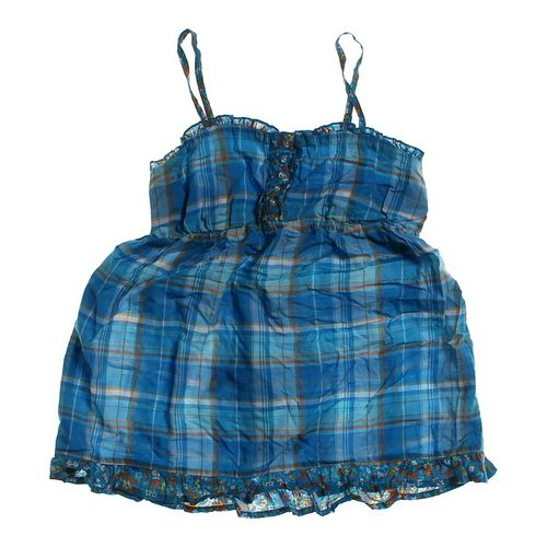 SO Fun Floral Plaid Dress in size JR 7 at up to 95% Off - Swap.com