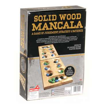 Game: Cardinal Solid Wood Mancala in Gold Foil Box for Sale on Swap.com