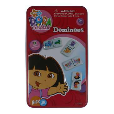Game: Dora The Explorer - Dominoes Game In Collectable Tin for Sale on Swap.com