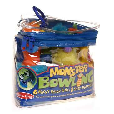 Game: Melissa & Doug Monster Plush 6-Pin Bowling Game With Carrying Case for Sale on Swap.com