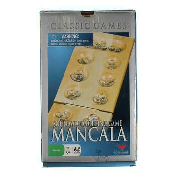 Game: Wood Folding Mancala in Cardboard Sleeve for Sale on Swap.com