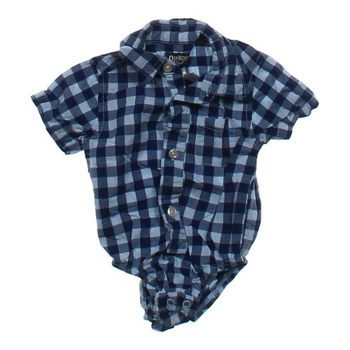 OshKosh B'gosh Gingham Button-up Bodysuit in size 3 mo at up to 95% Off - Swap.com