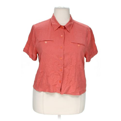 CJ Banks Gingham Button-up Shirt in size 1X at up to 95% Off - Swap.com