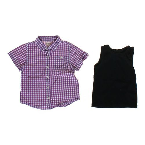 Olive Juice Gingham Button-up Shirt & Ruffled Tank Top in size 3/3T at up to 95% Off - Swap.com