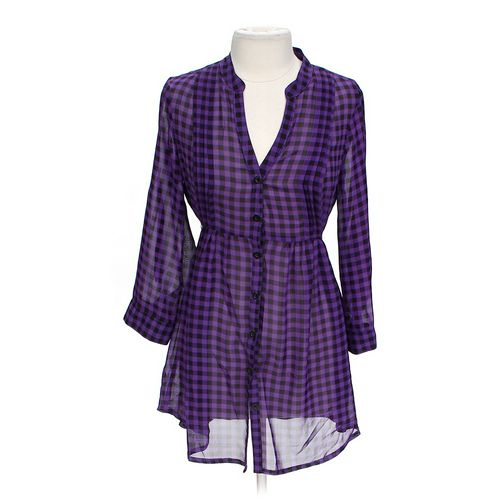 No Boundaries Gingham Dress in size JR 15 at up to 95% Off - Swap.com