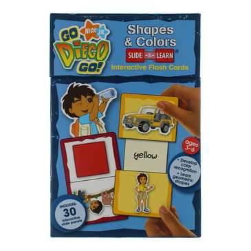 Go Diego Go! Shapes & Colors Slide & Learn Interactive Flash Cards for Sale on Swap.com