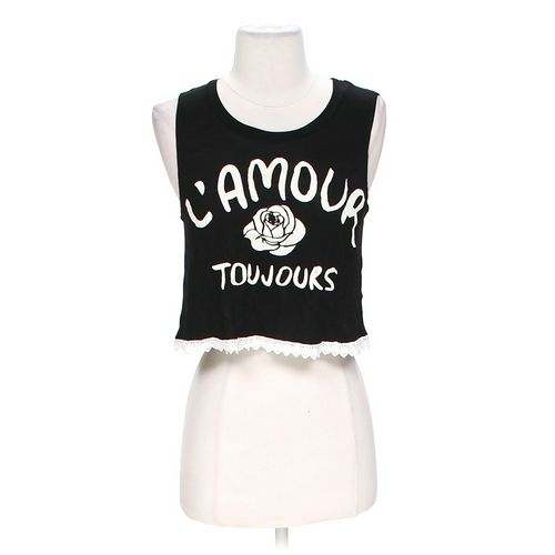 Body Central Graphic Crop Top in size S at up to 95% Off - Swap.com