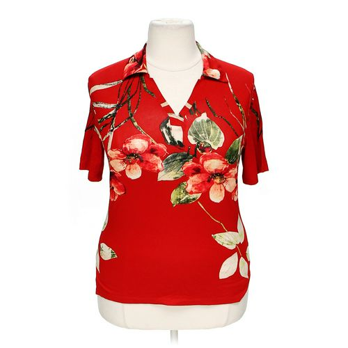Cellini Graphic Embellished Blouse in size XL at up to 95% Off - Swap.com