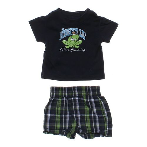 Kidgets Graphic Tee & Plaid Shorts Outfit in size NB at up to 95% Off - Swap.com