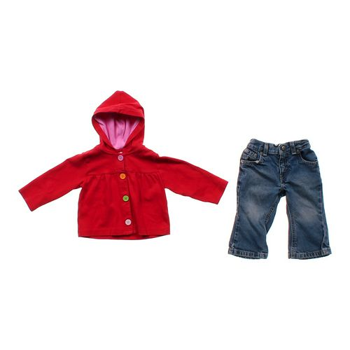 Carter's Hooded Cardigan & Jeans in size 12 mo at up to 95% Off - Swap.com