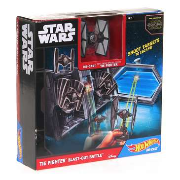 Hot Wheels Star Wars Starship TIE Fighter Blast-Out Battle Playset for Sale on Swap.com