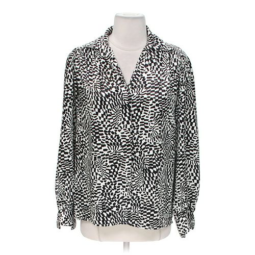 Evan Picone Imprinted Blouse in size 6 at up to 95% Off - Swap.com