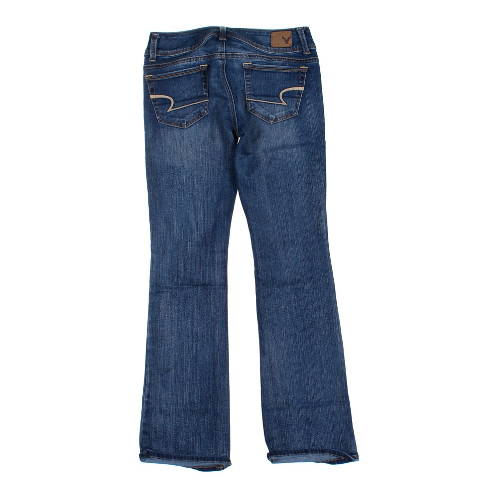eccb034a1a7cbe American Eagle Outfitters Solid Jeans, Size 0, Blue/Navy