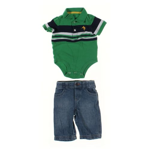 Genuine Kids from OshKosh Jeans & Bodysuit Set in size 6 mo at up to 95% Off - Swap.com