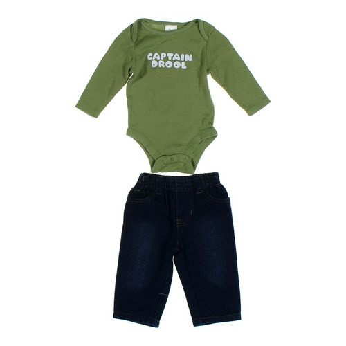 Kids Headquarters Jeans & Bodysuit Set in size 3 mo at up to 95% Off - Swap.com