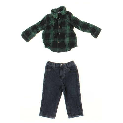 Nautica Jeans & Shirt Set in size 12 mo at up to 95% Off - Swap.com