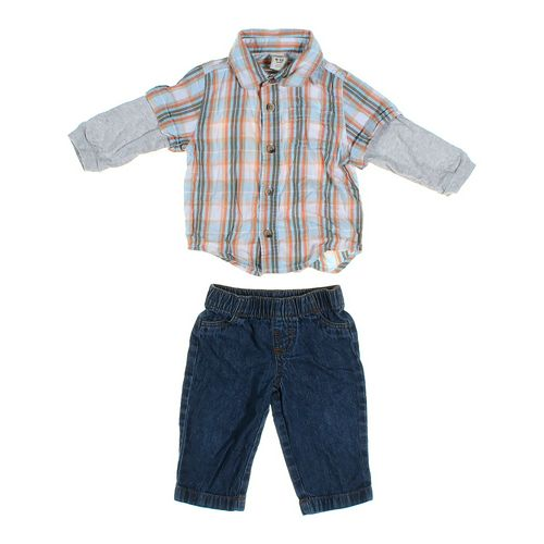 Okie Dokie Jeans & Shirt Set in size 6 mo at up to 95% Off - Swap.com