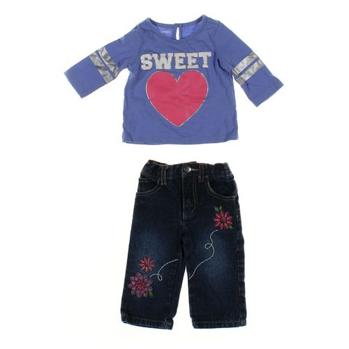 Faded Glory Jeans & Shirt Set in size 12 mo at up to 95% Off - Swap.com