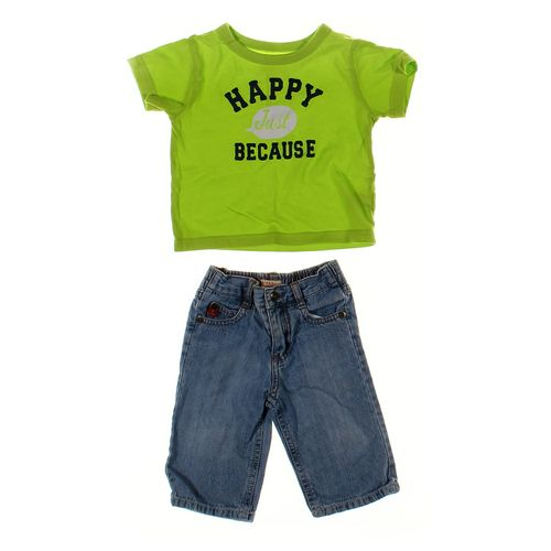 GUESS Jeans & T-shirt Set in size 3 mo at up to 95% Off - Swap.com