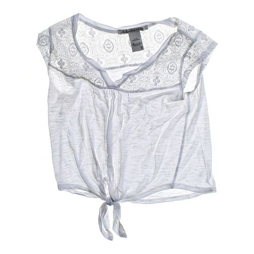 American Rag Lace Accented Crop Top in size JR 3 at up to 95% Off - Swap.com