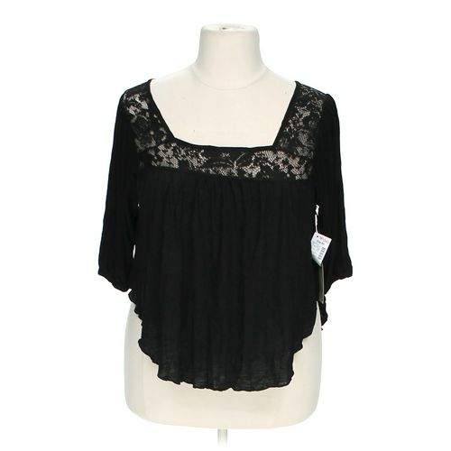 Me and U Lace Accented Shirt in size 1X at up to 95% Off - Swap.com