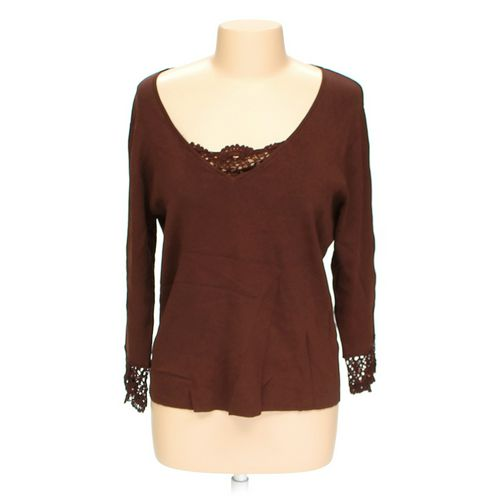Notations Lace Accented Sweater in size L at up to 95% Off - Swap.com
