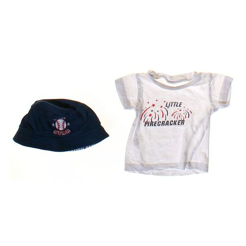 """""""Little Firecracker"""" Tee & Hat Set in size NB at up to 95% Off - Swap.com"""