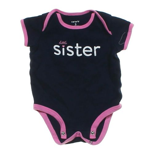 """Carter's """"Little Sister"""" Bodysuit in size 3 mo at up to 95% Off - Swap.com"""