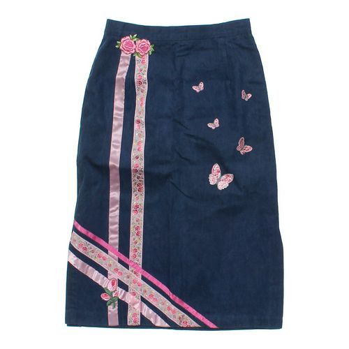 Petit Fors Long Graphic Denim Skirt in size 10 at up to 95% Off - Swap.com