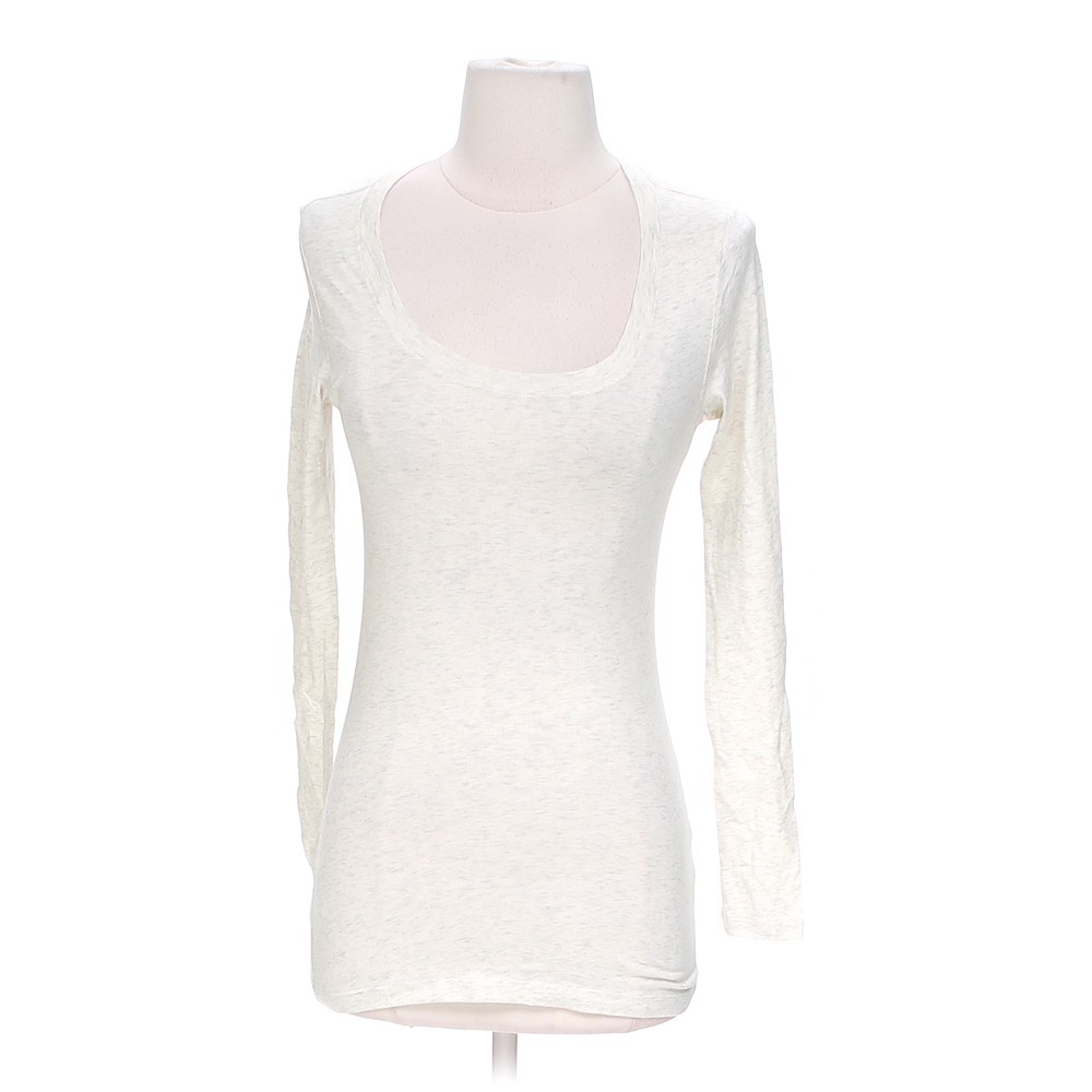 White active basic long sleeve shirt in size s at up to 95 for How to hand wash white shirt