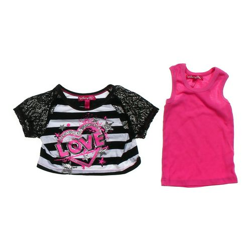 "Cherry Stix ""Love"" Crop Shirt & Basic Tank Top in size 3/3T at up to 95% Off - Swap.com"