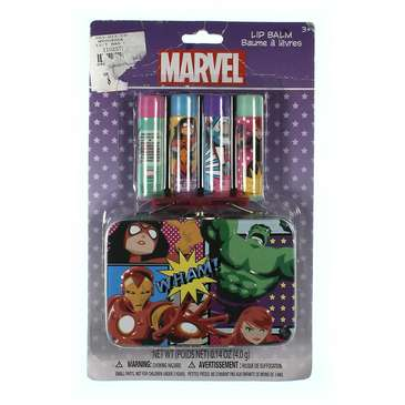 Marvel Avengers 4 Pack Lip Balm With Tin for Sale on Swap.com