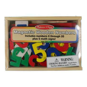 Melissa & Doug 37 Wooden Number Magnets in a Box for Sale on Swap.com
