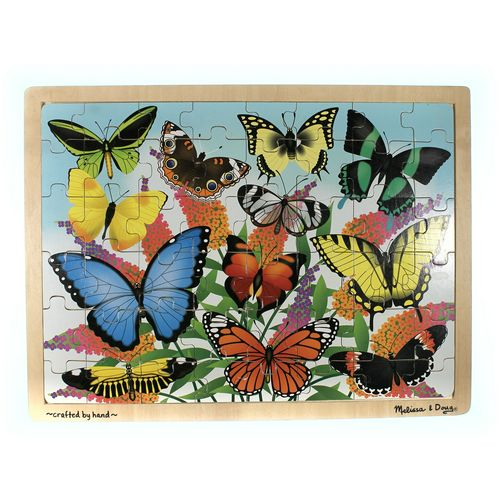 Melissa & Doug Melissa & Doug Butterfly Garden Wooden Jigsaw Puzzle With Storage Tray (48 pcs) Puzzle at up to 95% Off - Swap.com