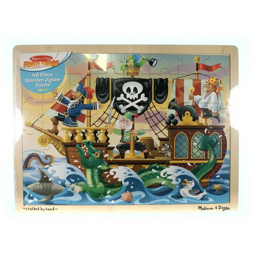 Melissa & Doug Melissa & Doug Deluxe Wooden 48-Piece Jigsaw Puzzle - Pirates [Standard Version] Puzzle at up to 95% Off - Swap.com