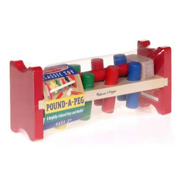 Melissa & Doug Deluxe Wooden Pound-A-Peg Toy With Hammer for Sale on Swap.com