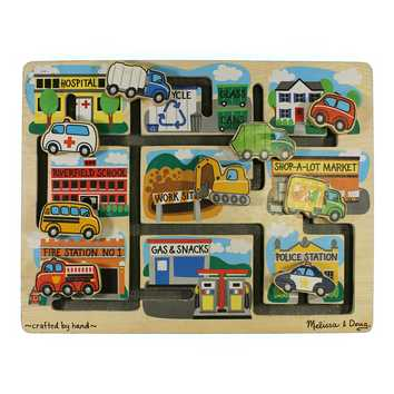 Melissa & Doug Deluxe Wooden Vehicles Maze Puzzle for Sale on Swap.com