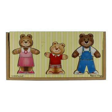 Melissa & Doug Mix 'n Match Wooden Bear Family Dress-Up Puzzle for Sale on Swap.com