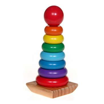 Melissa & Doug Rainbow Stacker Wooden Ring Educational Toy [Standard Version] for Sale on Swap.com