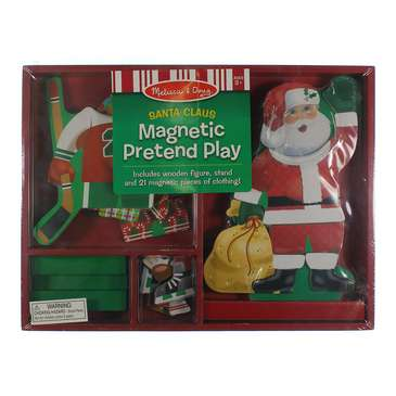 Melissa & Doug Santa Wooden Dress-Up Doll and Stand With Magnetic Accessories (22 pcs) for Sale on Swap.com