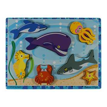 Melissa & Doug Sea Life Wooden Chunky Puzzle Puzzle for Sale on Swap.com